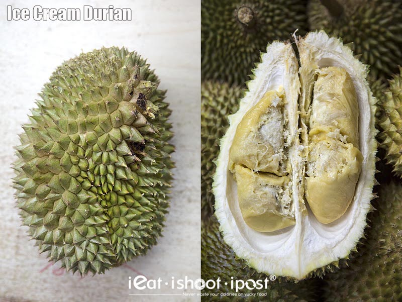 Kasap Ice Cream $7-$8/kg (this is an over-ripe durian - it was the last one)