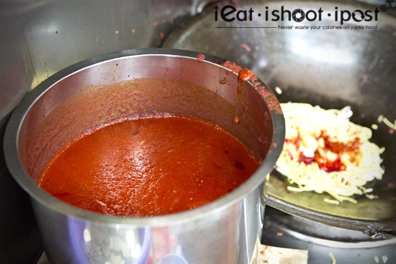 Bright Red Sambal - The secret sauce that powers Mee Goreng!