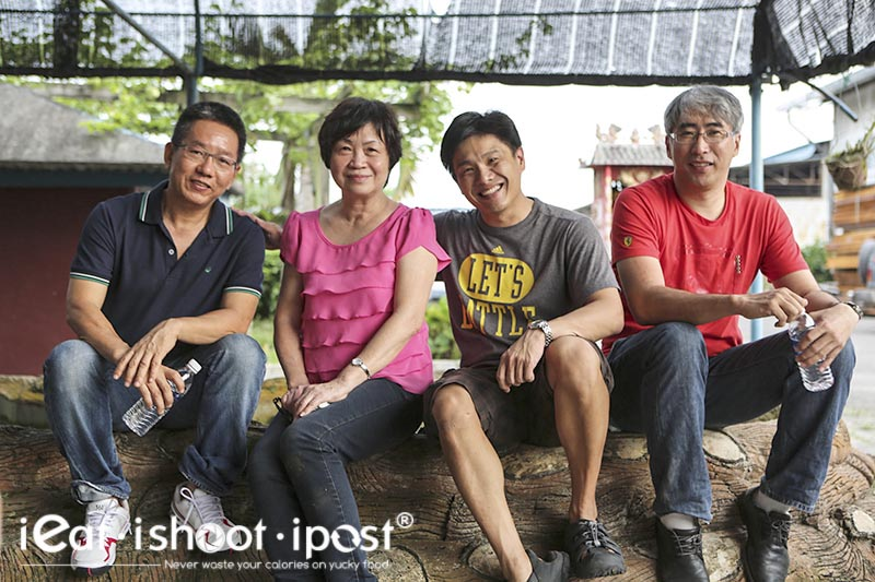 Mdm Foo and I with the chicken farmers. Singaporean farmer Johnson Toh on the right