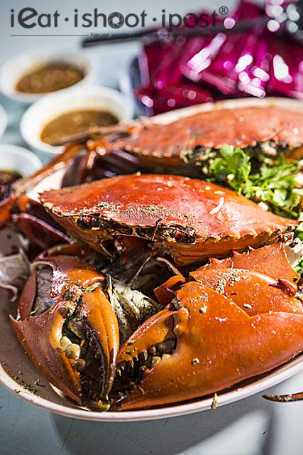 Salt Baked Crabs $130 (Two large)