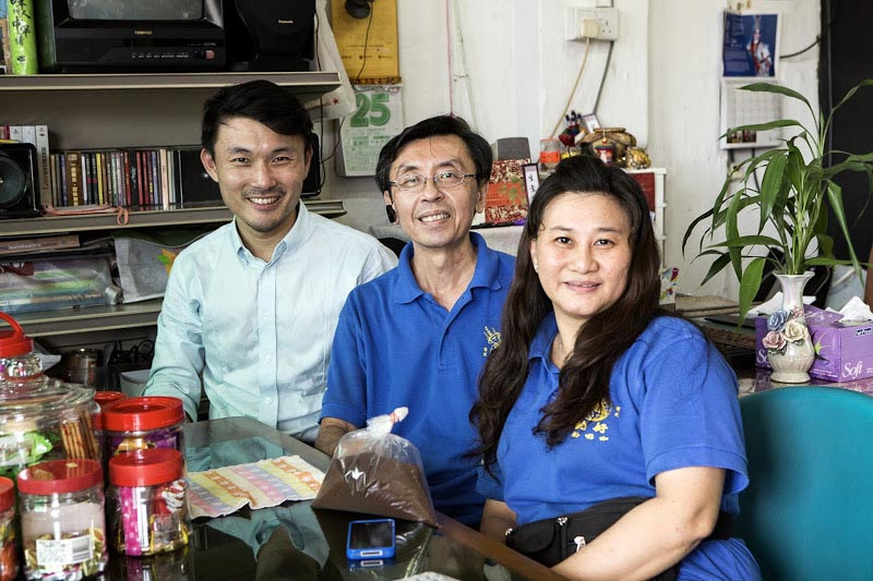 Mr Baey Yam Keng with Dominic and Cynthia