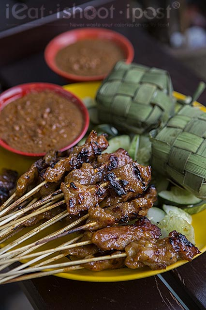 Pork and Chicken Satay 38 cents each
