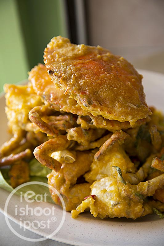Salted Egg Crabs $23 for two 400-500g crabs