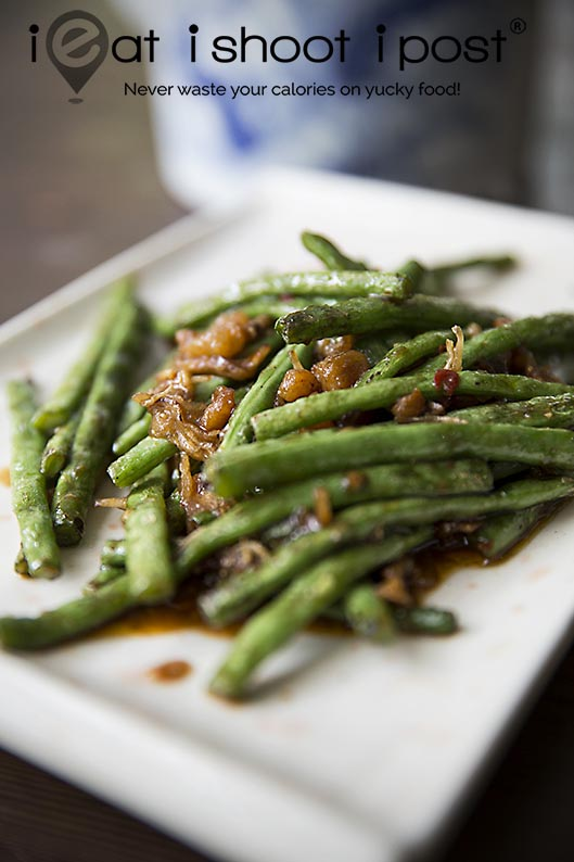 French Beans with Silverfish Chilli Sambal $10