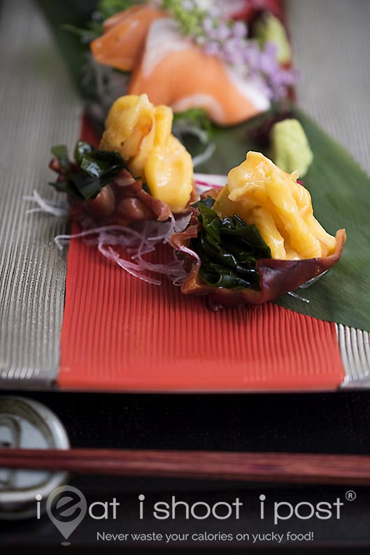 Sea Squirt Sashimi with Wakami