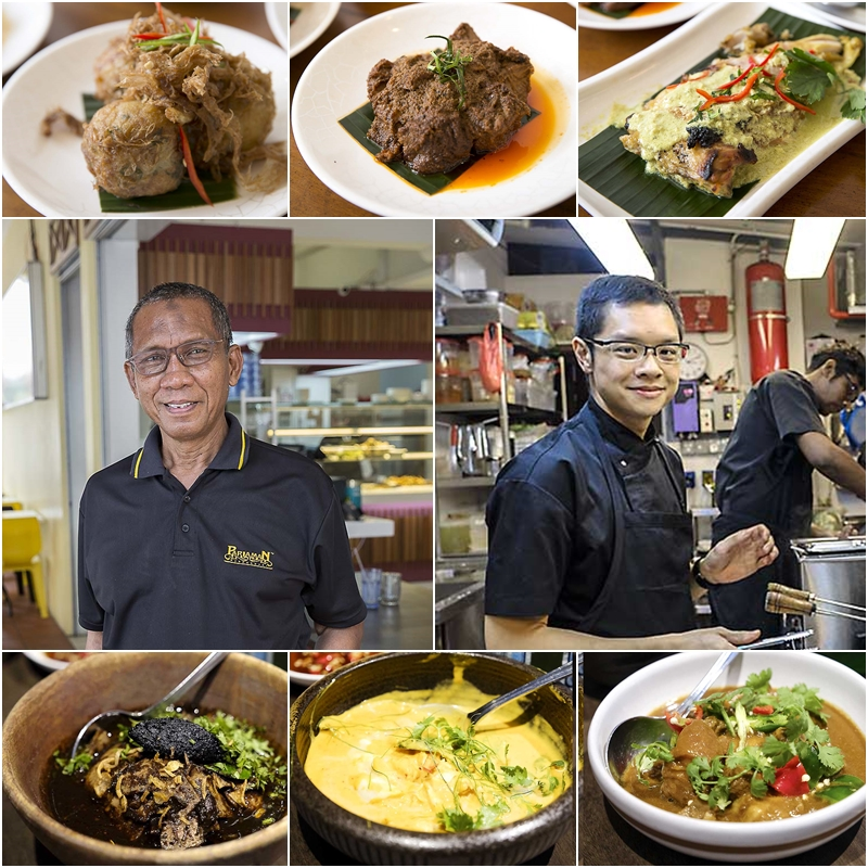 Encik Jumrin Isrin (Warong Pariaman Favourites) and Chef Malcolm Lee (Candlenut)