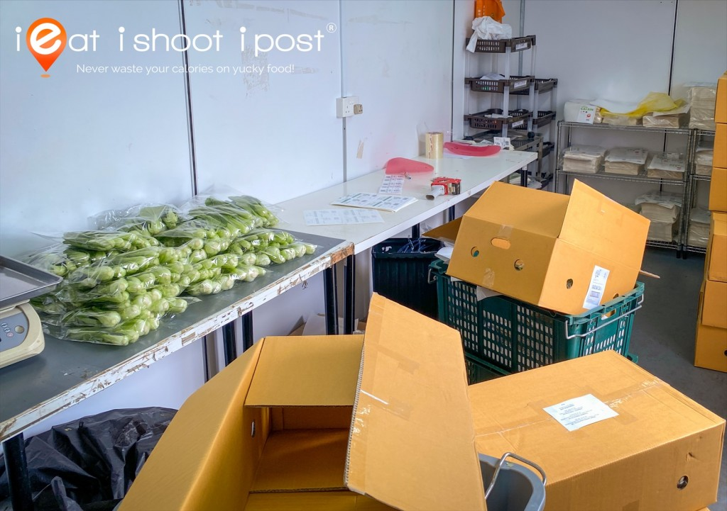 Fresh veggies are harvested, packed and sent to Red Mart warehouse within the same day